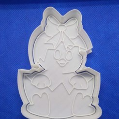 STL cookie cutter easter chicken, 3d4you