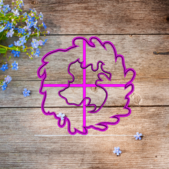 Скриншот 2020-03-11 11.41.31.png Download STL file cookie cutter flower lavender • 3D printing object, 3d4you