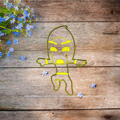 Download 3D printer templates PJ Masks Villain Cookie Cutter night ninja, 3d4you