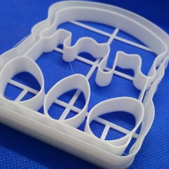 3D print model cookie cutter easter, 3d4you