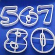STL cookie cutter number, 3d4you