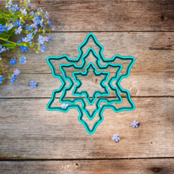Скриншот 2019-12-01 01.00.00.png Download STL file cookie cutter snowflake set  • 3D printing design, 3d4you
