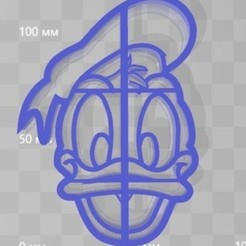 STL cookie cutter donald duck, 3d4you