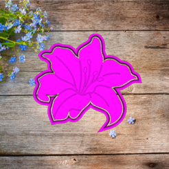 Скриншот 2020-03-11 06.16.52.png Download STL file cookie cutter flower lily  • 3D printing model, 3d4you