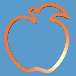 Download STL cookie cutter apple, 3d4you