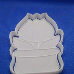 Download 3D printer templates Tulip cookie cutter, 3d4you