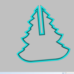 Download 3D printer designs cookie cutter Christmas tree, 3d4you