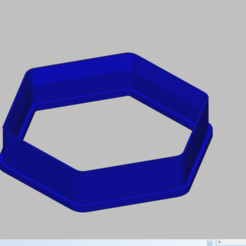 Download 3D printer designs cookie cutter hexagon, 3d4you