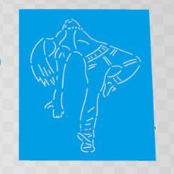 Download STL files cookie cutter + stencil dance woman, 3d4you