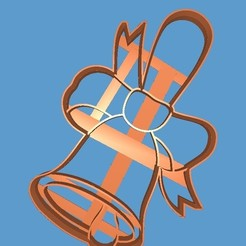 STL file cookie cutter the bell, 3d4you