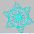 Download 3D printer designs cookie cutter snowflake, 3d4you