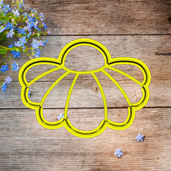 Скриншот 2020-03-11 11.23.18.png Download STL file cookie cutter flower Camomile  • 3D printing design, 3d4you
