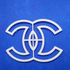 3D print model cookie cutter chanel logo, 3d4you