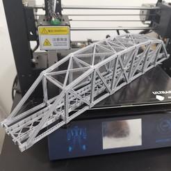Descargar modelos 3D gratis Escala HO126 pies Puente de celosía de arco de acero, maovill