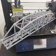 Télécharger fichier STL gratuit Échelle HO Pont en treillis arqué en acier de 126 pi. • Modèle pour imprimante 3D, maovill