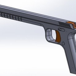 Rubber band gun cad picture.jpg Download STL file Rubberband gun • 3D printing object, nicolastalbot