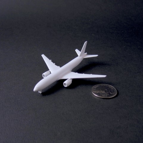 8 boeing 777-200 - 750 - pla - finished 2 - IMG_2355 copy.jpg Download free STL file Boeing 777-200, scale 1:750 • 3D print object, heri__suprapto