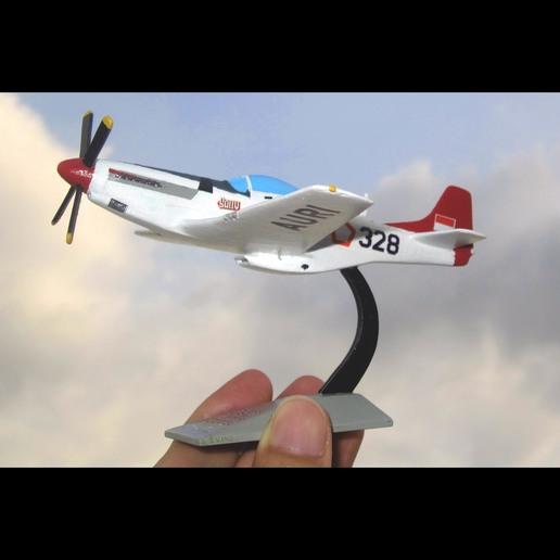 Descargar STL gratis P-51D Mustang - Sally AURI, heri__suprapto