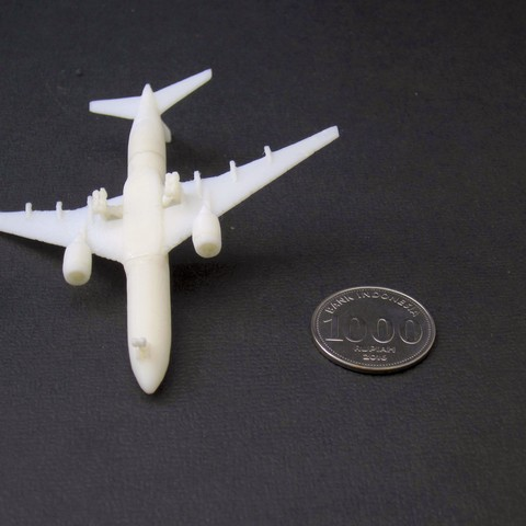 1 boeing 777-200 - 750 - bawah - IMG_2297 copy.jpg Download free STL file Boeing 777-200, scale 1:750 • 3D print object, heri__suprapto