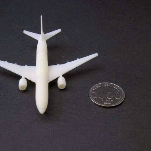 2 boeing  777-200 - 750 - atas - IMG_2296 copy.jpg Download free STL file Boeing 777-200, scale 1:750 • 3D print object, heri__suprapto