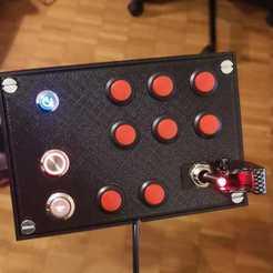 3D printing model Playseat challenge button box, mirkogood1994