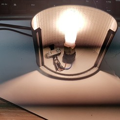 Download 3D printing templates Lamp Litofania curved, Ricardo_Brea