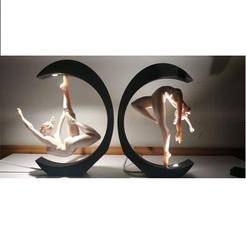 Download STL file Bedside lamp: Dance in the Light, Stikka_Design