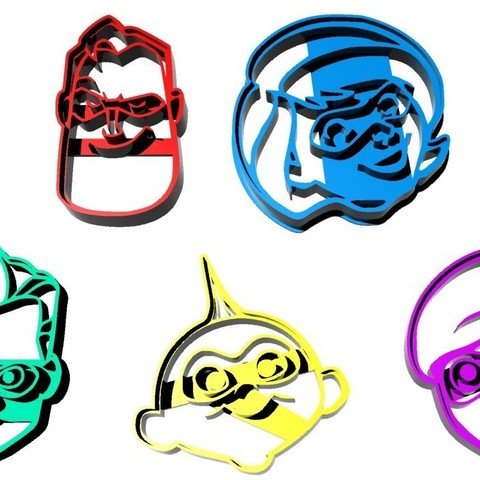 3D print files Cookie Cutter The Incredibles, jdanaisp