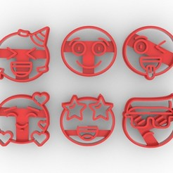 Download STL file COOKIE CUTTER EMOJI, jdanaisp