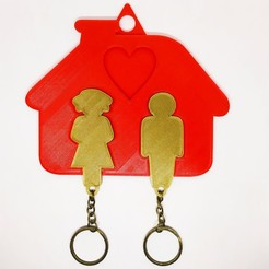 Download 3D printer files KEYS HOOK | FAMILY KEY HOLDER, jdanaisp