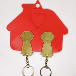 Download STL KEYS HANGER | dog family, jdanaisp