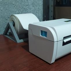 photo_2020-08-10_22-19-19.jpg Download STL file paper roll holder for 100mm thermal guide label printer • 3D print model, jdanaisp