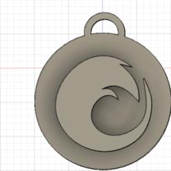 Free 3D model keychain(firefox), zaidkayed3