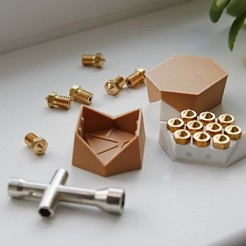 Download free 3D printer designs Origami-Nozzle-box, RubyFOX