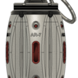 Download free 3D model Hand Grenade assembly model, RubyFOX