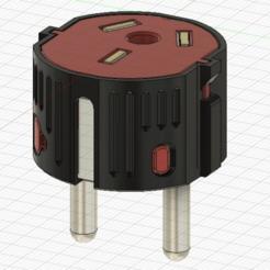 Télécharger plan imprimante 3D gatuit Adaptateur de prise AU à EU pour les appareils xiaomi, RubyFOX