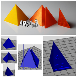 Free STL art3d-clb Regular PYRAMID based SQUARE (3,4,5), art3d