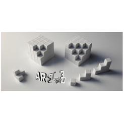 Impresiones 3D gratis art3d-clb cubos y cálculos de volumen, art3d