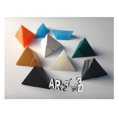 art3d-clb-tetraedre-casse-tete.png Download free STL file art3d-clb tetrahedron puzzle • 3D printable object, art3d