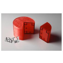 Objet 3D gratuit art3d-clb cylindre de révolution avec un rectangle-345, art3d