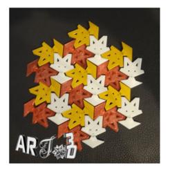 """art3d-clb-pavage-p3m-chat.png Download free STL file art3d-clb paving p3m figurative paving """"cat"""" pattern • 3D printer design, art3d"""