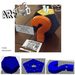 Modelos 3D para imprimir ARt3d-clb Dodecaedro regular - question box, art3d