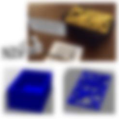 Fichier imprimante 3D art3d-clb Boîte, pavé droit avec un couvercle en spirale d'or, art3d