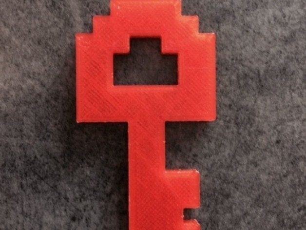 key_display_large.jpg Télécharger fichier STL gratuit Zelda NES Clé • Modèle pour imprimante 3D, Hoofbaugh