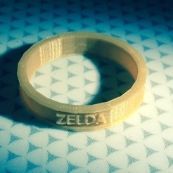 Download free 3D printing files Triforce Zelda Ring, Hoofbaugh