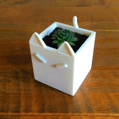 12e3718eb5c9c3b5efac79b1eb9d49ad_display_large.jpg Download free STL file Cat Plant Pot • 3D printing model, Hoofbaugh