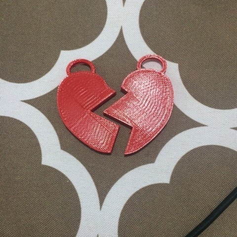 Download free 3D printer designs Heart Necklaces, Hoofbaugh