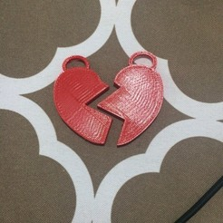 Free STL file Heart Necklaces, Hoofbaugh