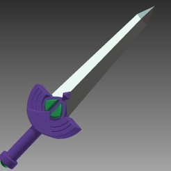 Download free 3D printer templates Picori Sword, Hoofbaugh