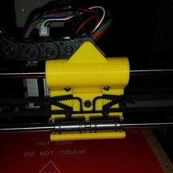 Free 3D print files Zip-tie free Prusa i3 X-Carriage, Palemar